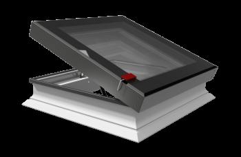 Intura platdakraam elektrisch bediend met perfecte isolatie waarde 100x100 cm.