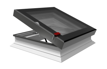 Intura platdakraam elektrisch bediend met perfecte isolatie waarde 120x120 cm.