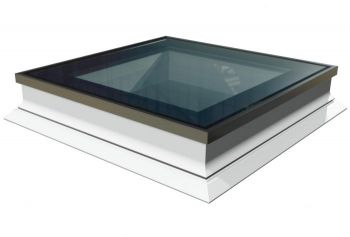 Intura platdakraam met HR++ glas 90x90 cm, vlakke lichtkoepel met hoge isolatie waarde.