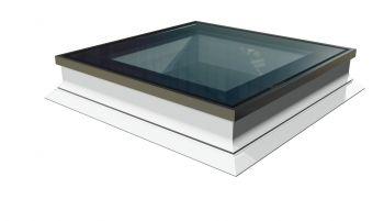 Intura platdakraam 100x100 cm compleet voor montage op het platte dak.
