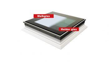Intura platdakraam Switch wissel van helder naar opaal glas 120x220 cm.